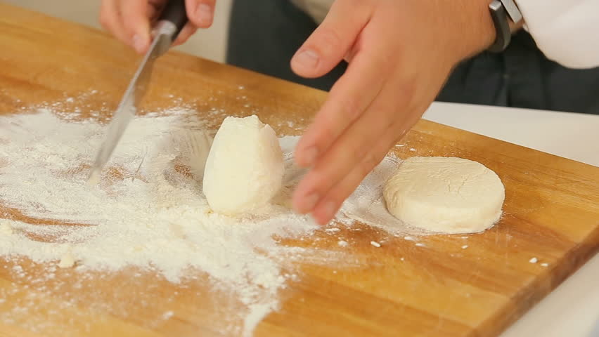 Making thick pancakes from the raw dough stock footage video making thick pancakes from the raw dough hd stock video clip ccuart Image collections
