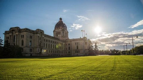 Saskatchewan Legislative Building Sunset