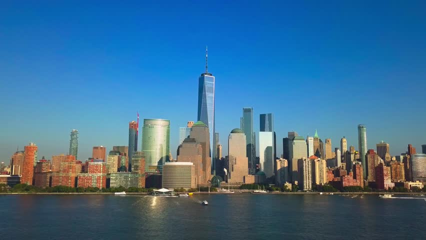 Reveal Pullback Video of New York City Skyline | Shutterstock HD Video #32884330