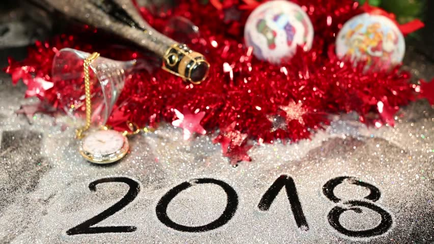2018. Happy New Year 2018. Stock Footage Video (100% Royalty-free ...