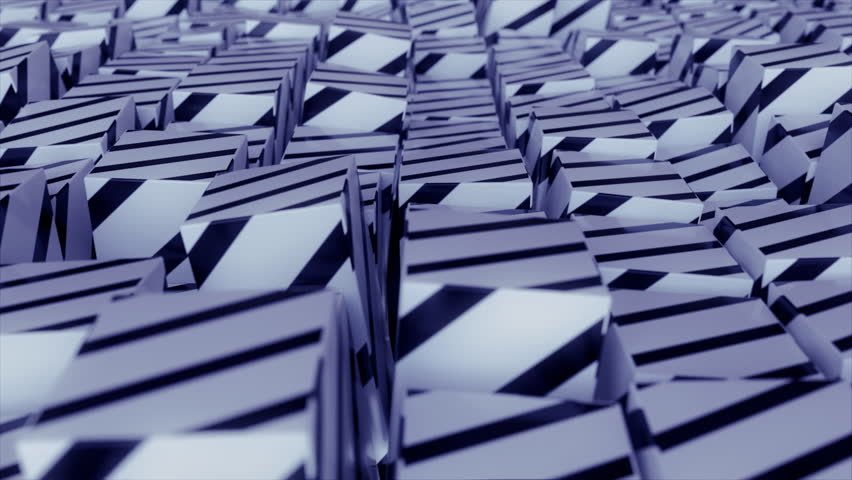 Abstract striped cubes. Seamless looping animation. 4K UHD. | Shutterstock HD Video #32912116