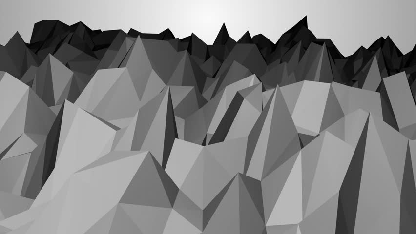 Abstract low poly black background. vertices slowly rising. | Shutterstock HD Video #32926075