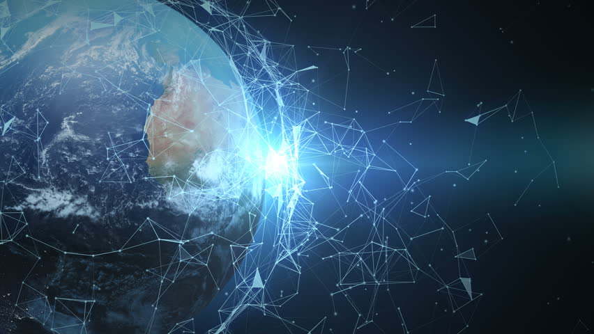 4K abstract networking, Digital World connecting, Elements of this image furnished by NASA. | Shutterstock HD Video #32967094