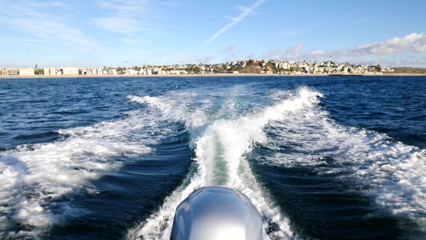 180fps Boat wake off the coast of Los Angeles | Shutterstock HD Video #32990293