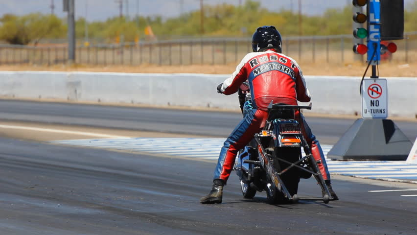 Tucson, AZ - May, 2011: Motorcycles race on the Southern International Raceway.
