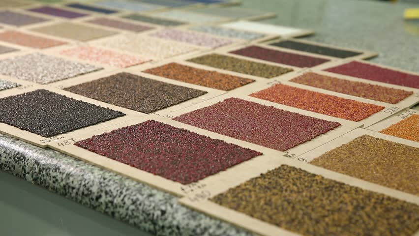 Sample Color Of Roofing Material. Different Colors Of Roof Covering. Large  Palette Of Colors