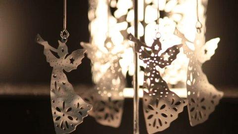 christmas golden angels, little carousel turn around,