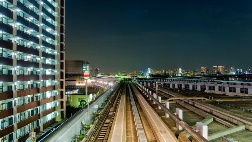 Tram Through Tokyo Timelapse