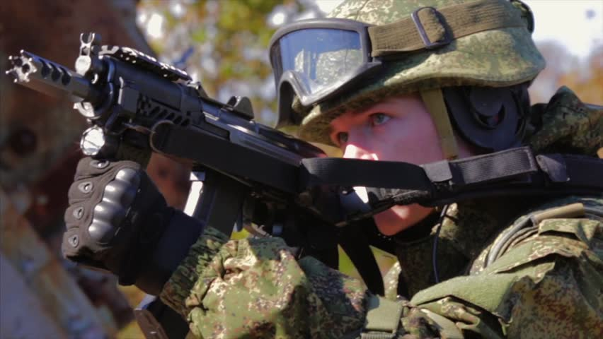 Soldier Aiming With Automatic Rifle Stock Footage Video 100 Royalty Free 33197605 Shutterstock