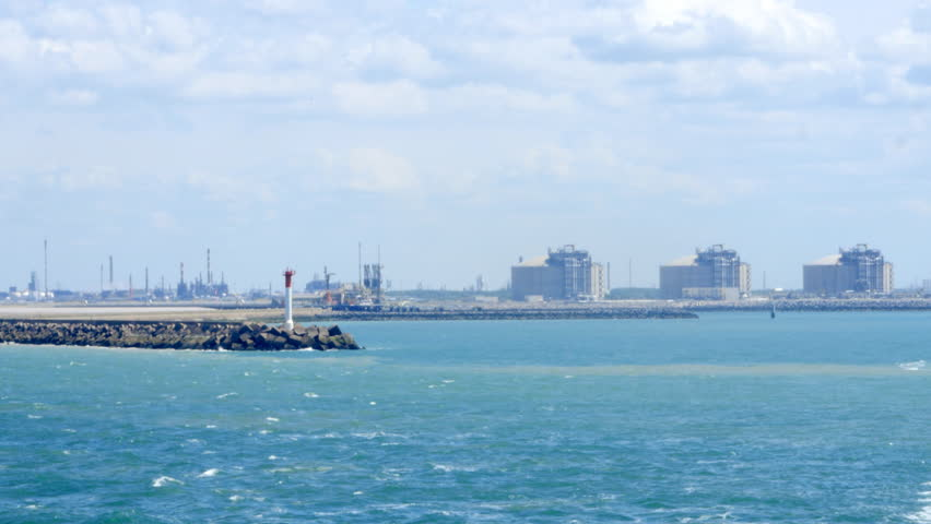 Oil refinery and LNG terminal in the Port of Dunkerque, France