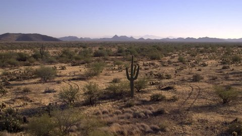 Vast expanses of desert in beautiful Arizona