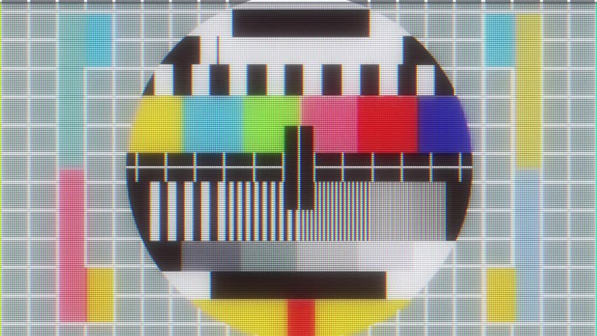 TV test tablet with glitch interference on lcd screen background animation - new quality digital twitch technology colorful video footage | Shutterstock HD Video #33386995