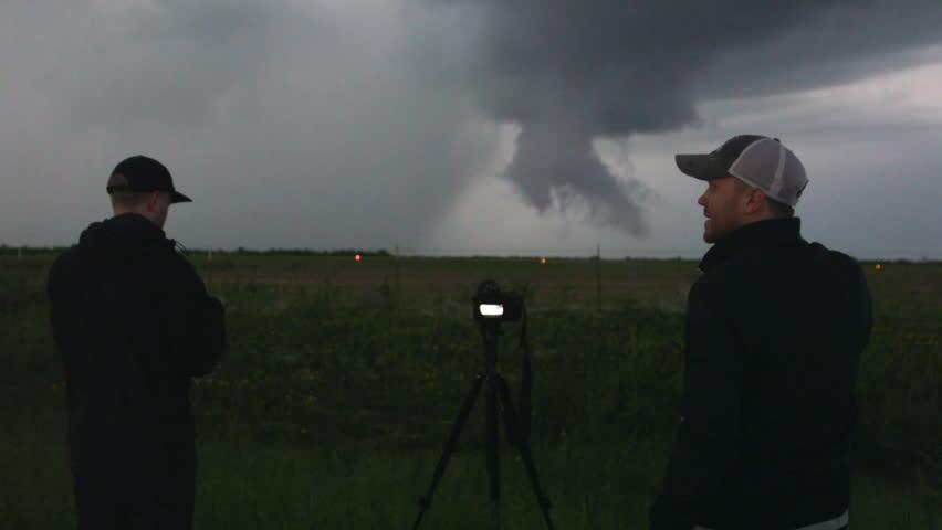 Storm Chaser Films Tornado Stock Footage Video Shutterstock - Storm chaser gets struck lightning films