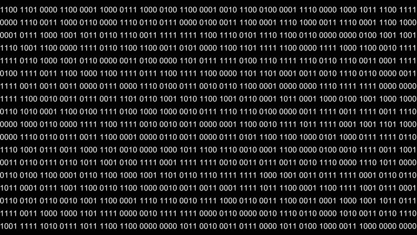 Abstract background or foreground with binary code. Digits 0 1 changes randomly. Alpha channel transparent background. | Shutterstock HD Video #33415285