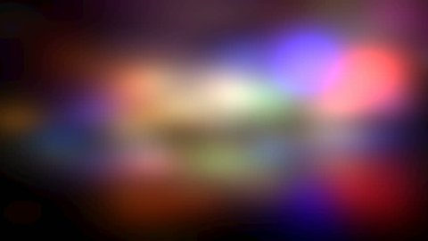 4K footage. Disco lights as an abstract colored animated background or wallpaper, light leaks.