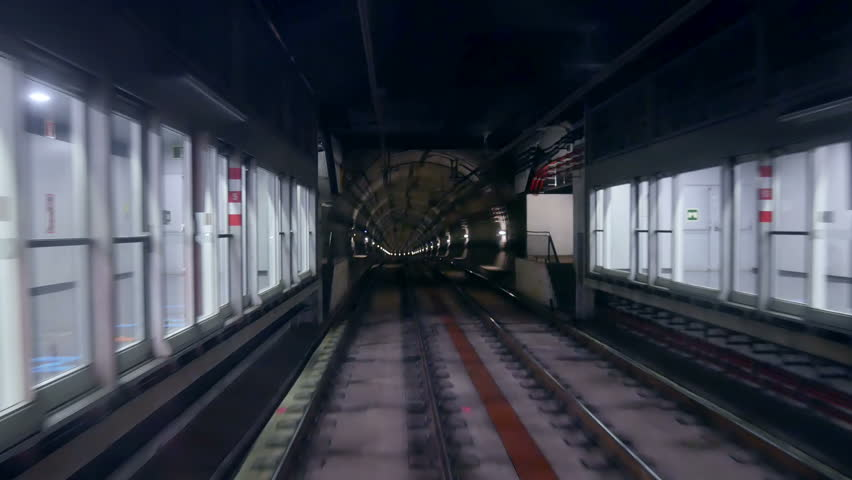Modern driver metro train speed | Shutterstock HD Video #33452395
