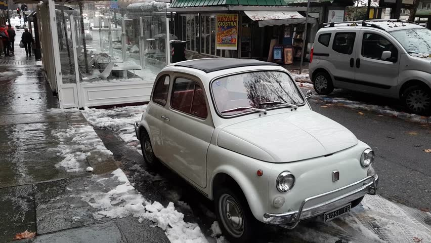 Old Fiat 500 In A Stock Footage Video 100 Royalty Free 33457555 Shutterstock