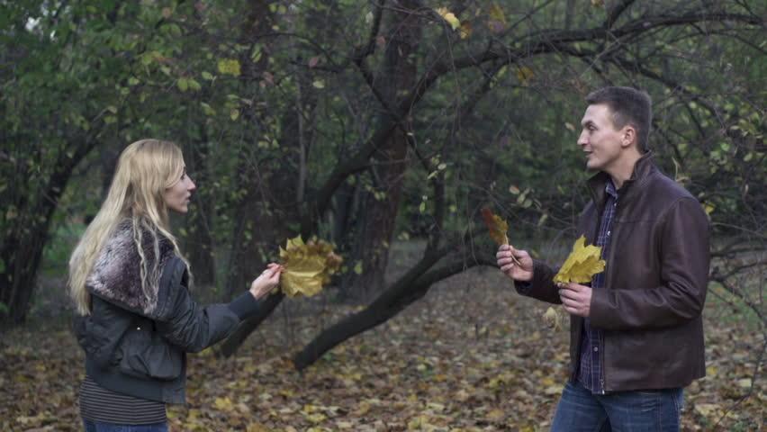 Couple arguing in the park, super slow motion, shot at 120fps