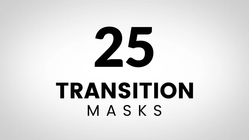 25 Transition masks in 4K size. Animated simple shape masks. Ultimate set of transitions for business presentation or product promo slides. #33472945