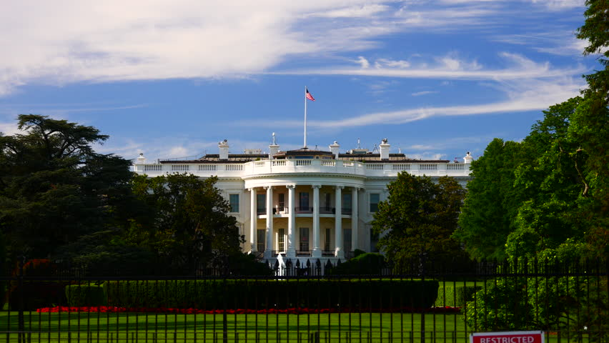 WASHINGTON, DC, USA - Circa 2017: The Ellipse, officially called President's Park South is a park located just south of the White House fence. | Shutterstock HD Video #33507238