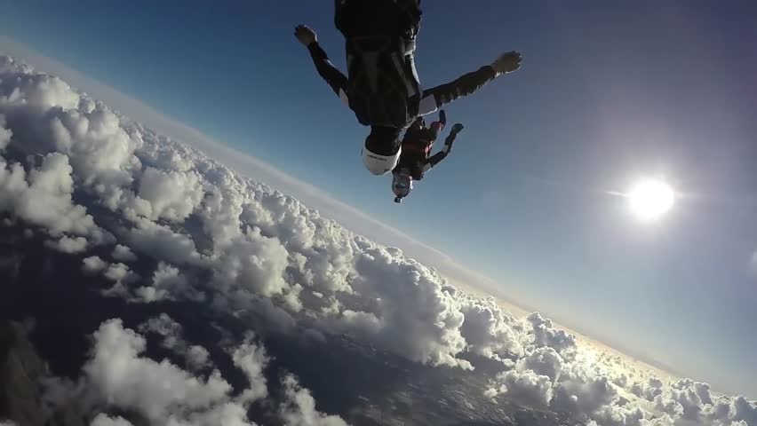 Man Jump And Skydive Together #33511345
