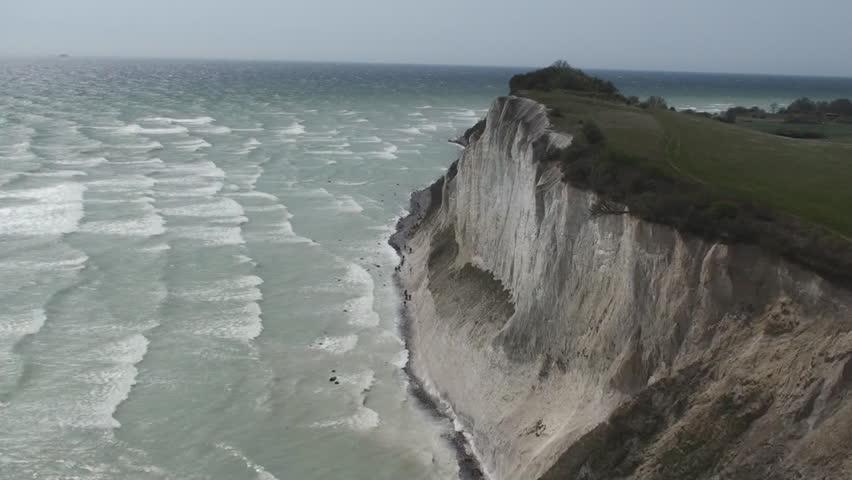 Chalk cliffs Mons Klint, Mon, Denmark