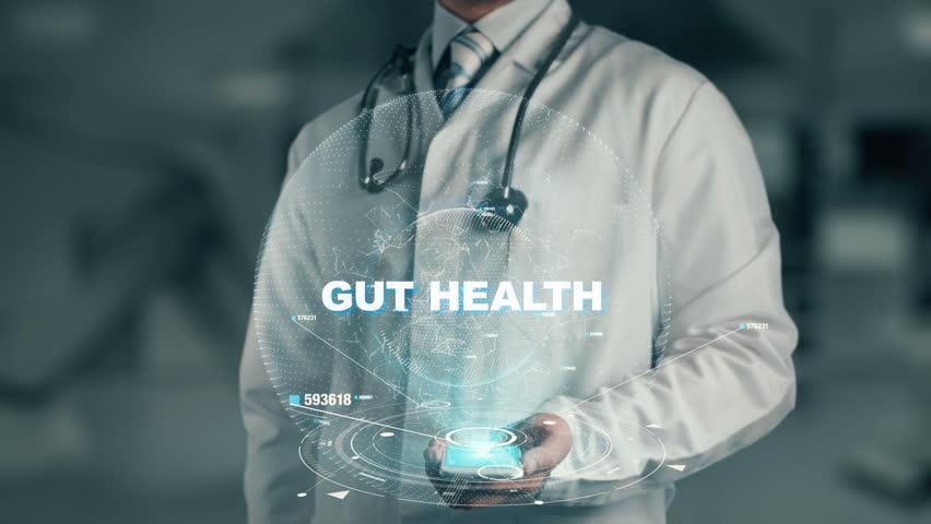 Doctor holding in hand Gut Health | Shutterstock HD Video #33584605