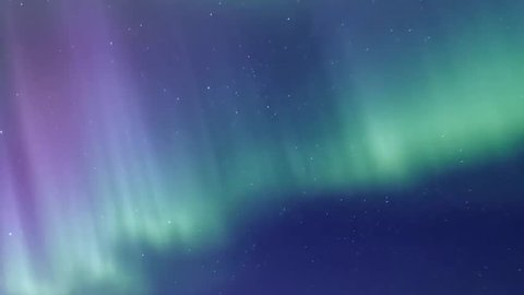 Northern Lights on the Arctic sky, aurora borealis, nive clear weather, colour skies in horizon. Northern lights (Aurora Borealis) in a cloudless night sky, Aurora Borealis (Northern lights) over. FHD