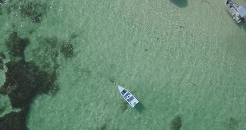 boat floating on the water DLOG