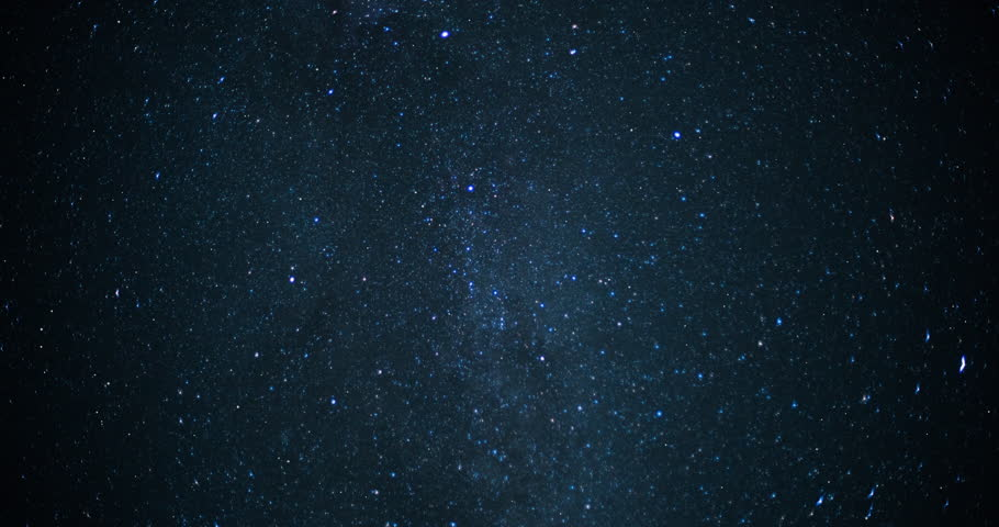 Twinkling stars on a clear starry night.