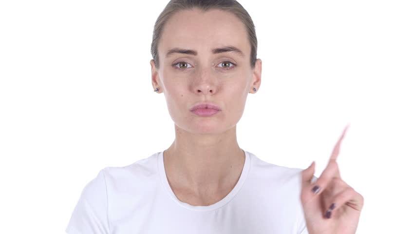 White background portrait