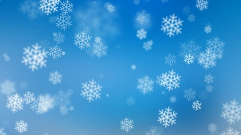 Winter Wonderland with Falling Snowflakes Stock Footage