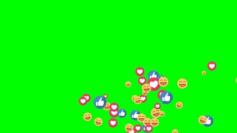 Thailand - December 8 2017: Social media icon Facebook live style animated come across on green screen