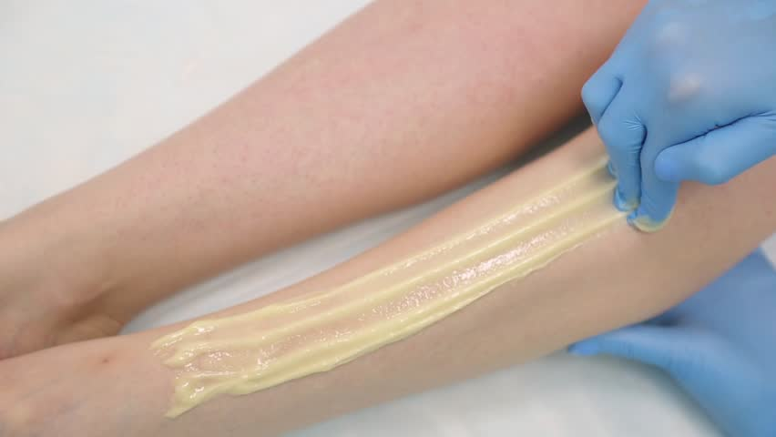 sugaring. hair removal legs #33682825