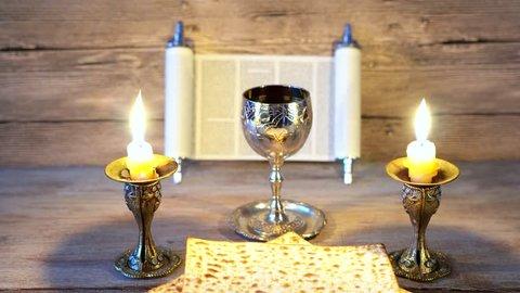 Preparing for Shabbat: matzot,grape juice
