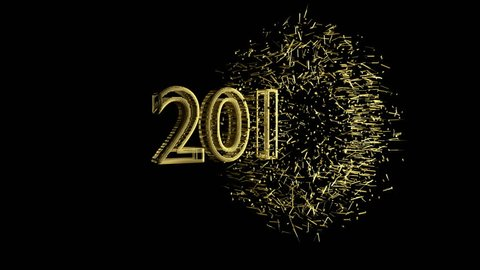2017 Explodes, Appears 2018, Gold Stock Footage Video (100