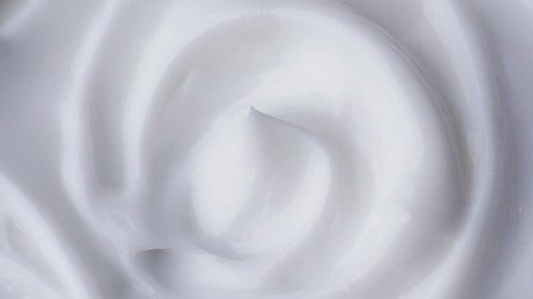 Cosmetics cream with rotate. Close-up shot.