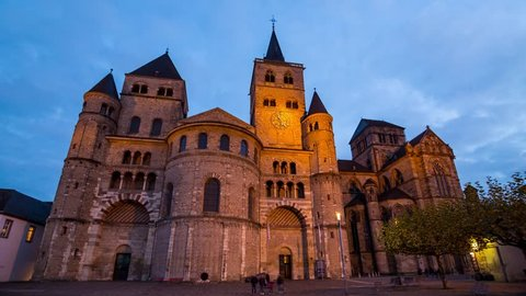 4K Timelapse of the Cathedral of Trier, Germany