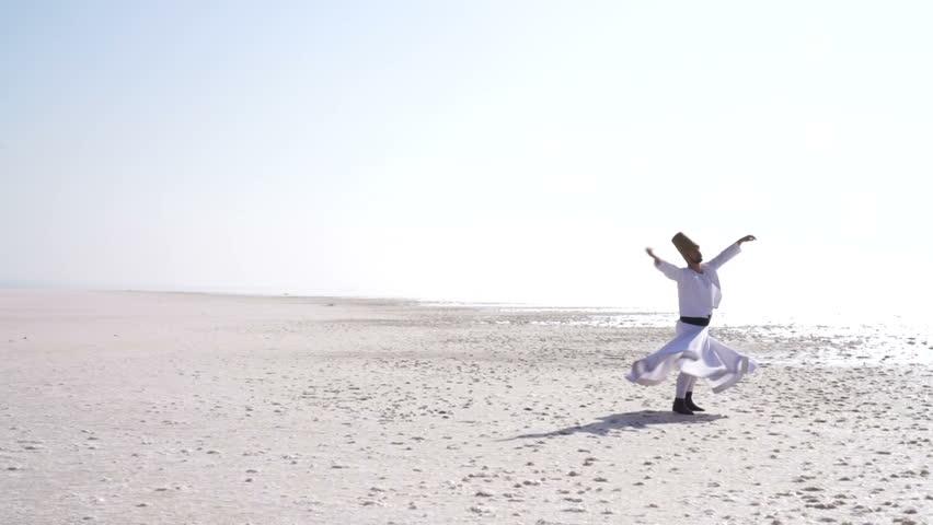 Whirling dervish,Salt Lake   Shutterstock HD Video #33790675