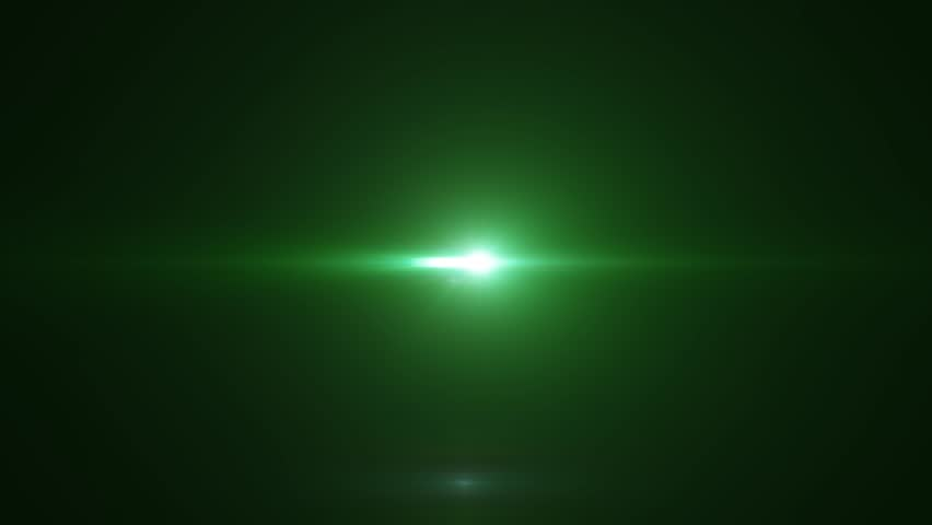 Green Light Effects Stock Footage Video: Bright Light With Lens Flare Moving. Green Background With