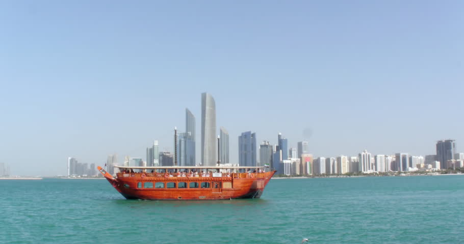 Traditional Arabic dhow in Abu Dhabi | Shutterstock HD Video #33824875