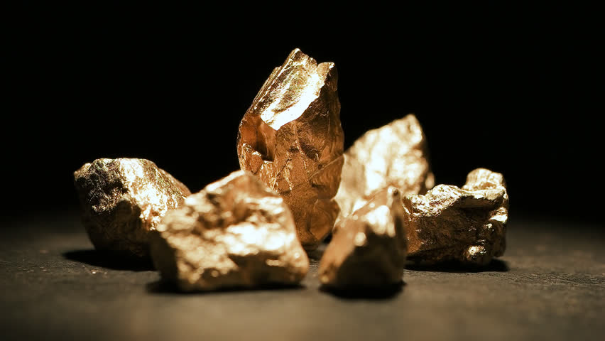Mound of gold with a big gold nugget, footage   Shutterstock HD Video #33865255