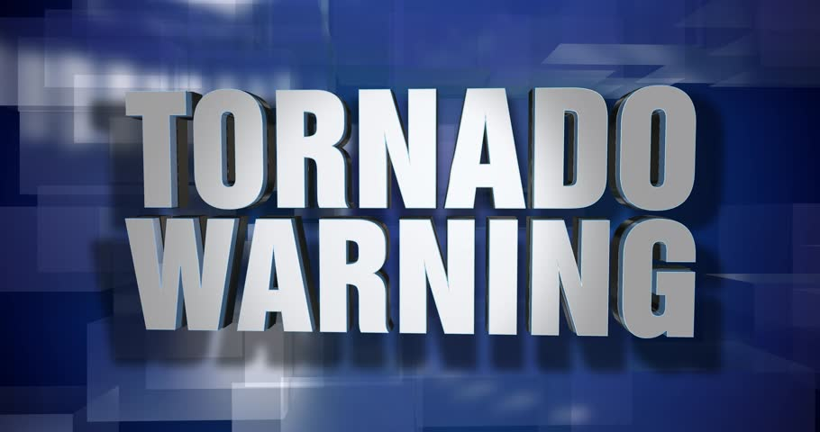 A blue dynamic 3D Tornado Warning transition and title page animation. 5 and 2 second options included with optional luma matte for both.  | Shutterstock HD Video #33987055