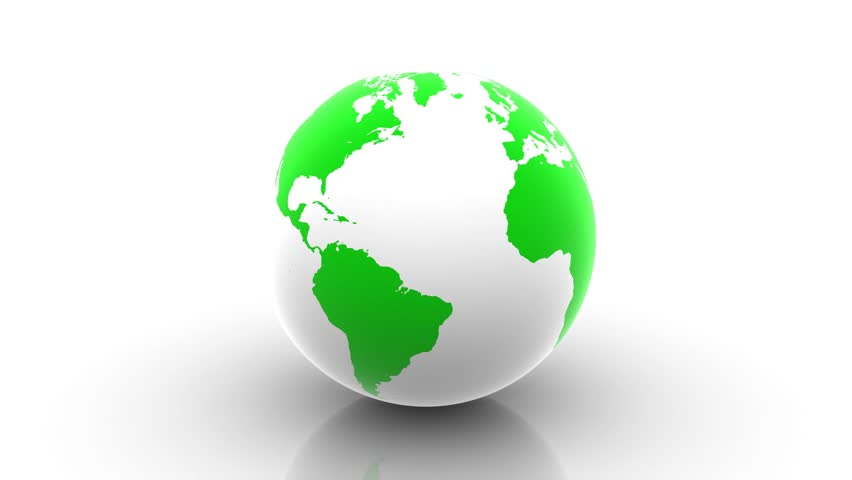 Rotating green planet earth globe on white background stock footage rotating green earth isolated on white map derivated from nasa images www gumiabroncs Images