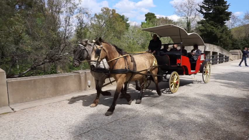 April 2015: Video from horse carriage outside archaeological site of Olympia, Peloponnese, Greece