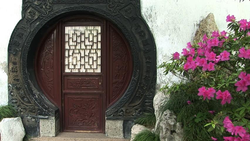Stock video of unique round oriental door yuyuan garden | 34235 | Shutterstock & Stock video of unique round oriental door yuyuan garden | 34235 ...