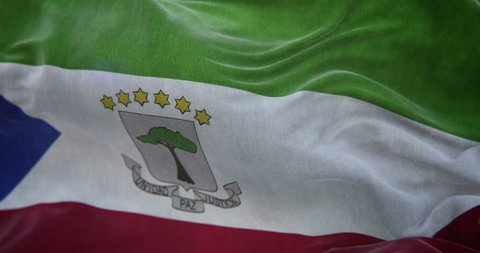 Equatorial Guinea Flag Slow Motion Loop