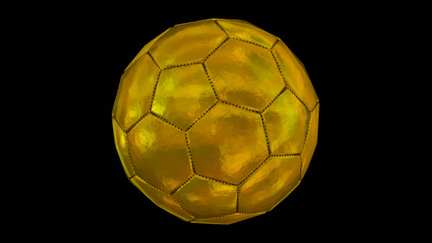 c6004ff82 Animated plain with no logo or text gold soccer ball spinning against  transparent background. Full 360 degree spin and loop-able. Alpha channel  embedded ...