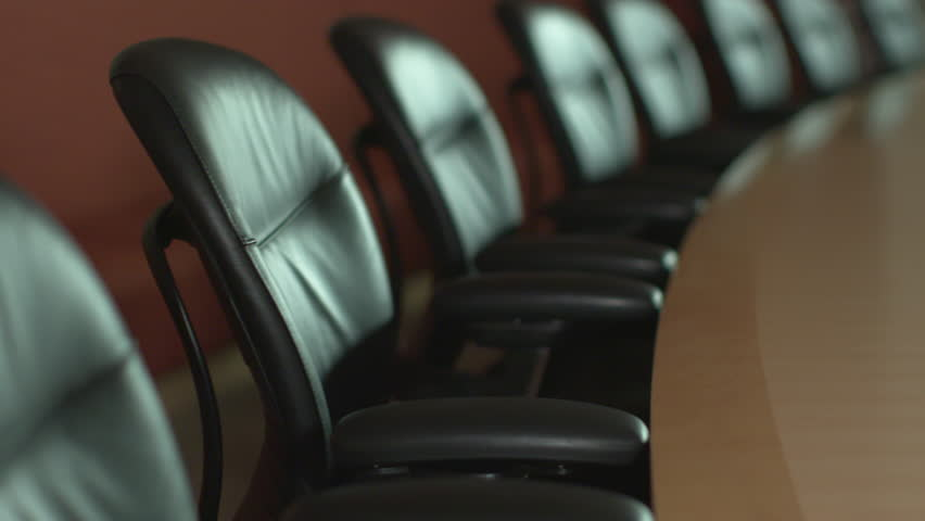 An empty executive corporate boardroom, ready for a business or shareholder meeting. ProRes file, shot in 4K UHD. | Shutterstock HD Video #34364635