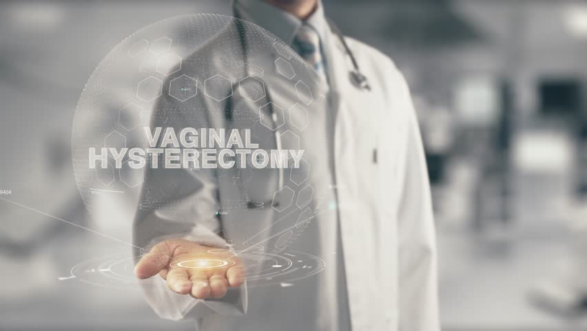 Doctor holding in hand Vaginal Hysterectomy